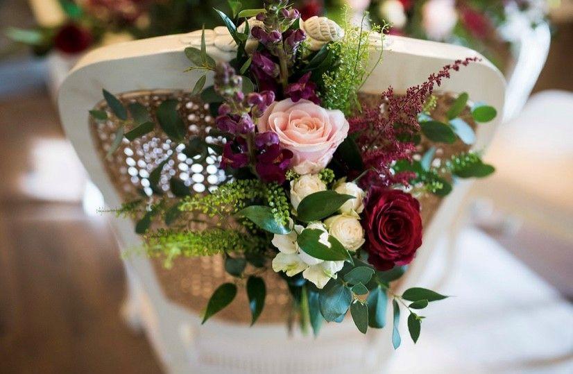 Ceremony Room Dressed Arbour Blooms (1)