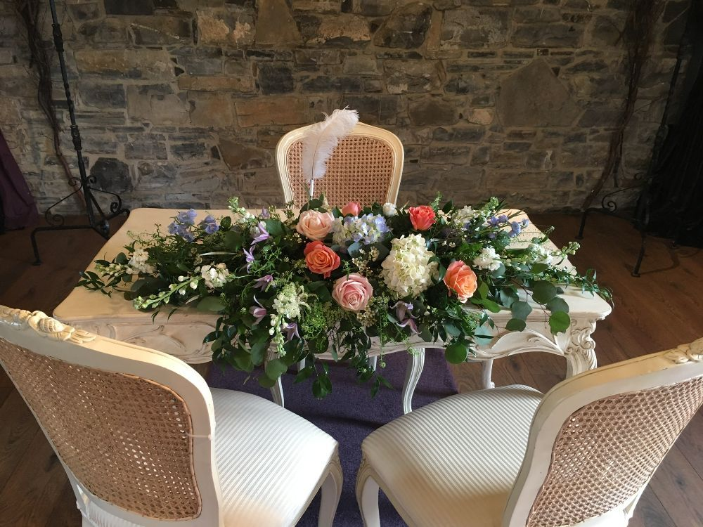 Ceremony Room Dressed Arbour Blooms (22)