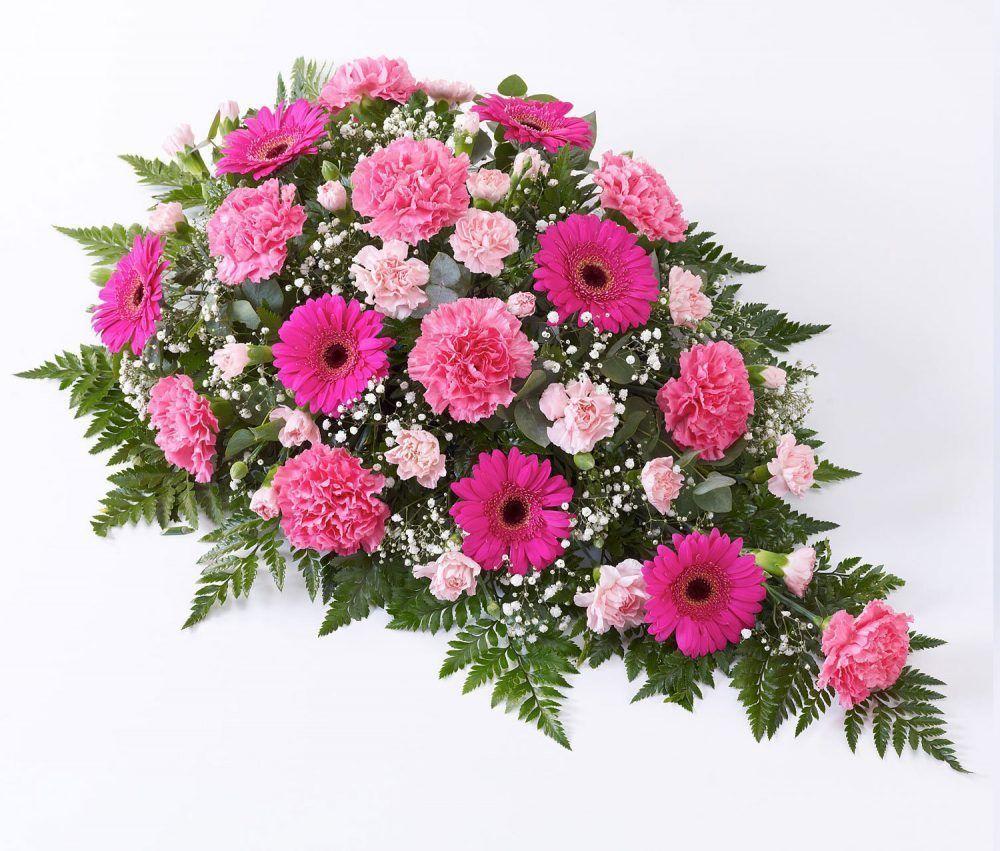 Carnation And Germini Teardrop Spray Pink