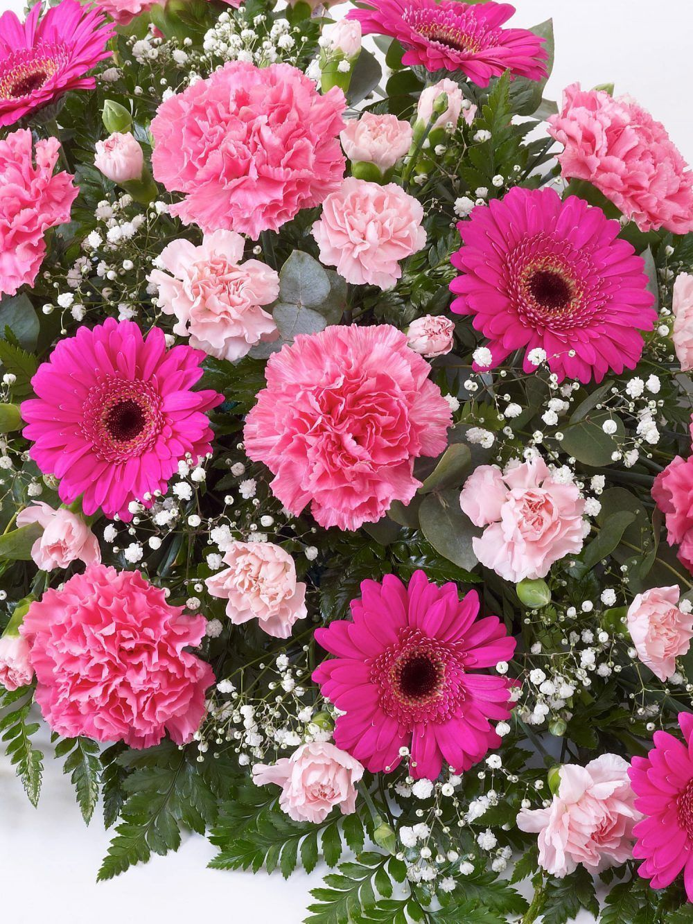 Carnation And Germini Teardrop Spray Pink1