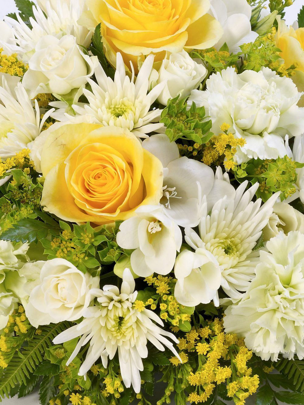 Classic Posy Yellow And White 1
