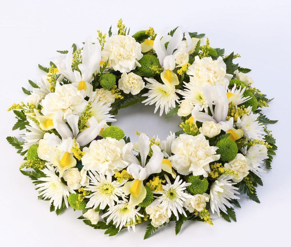 Classic Wreath Yellow And Cream
