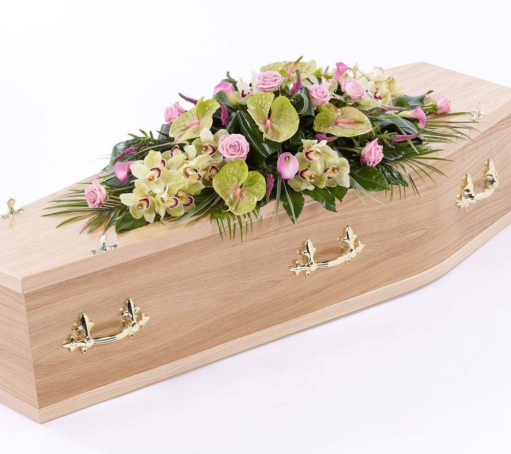 Rose Orchid And Calla Lily Casket Spray